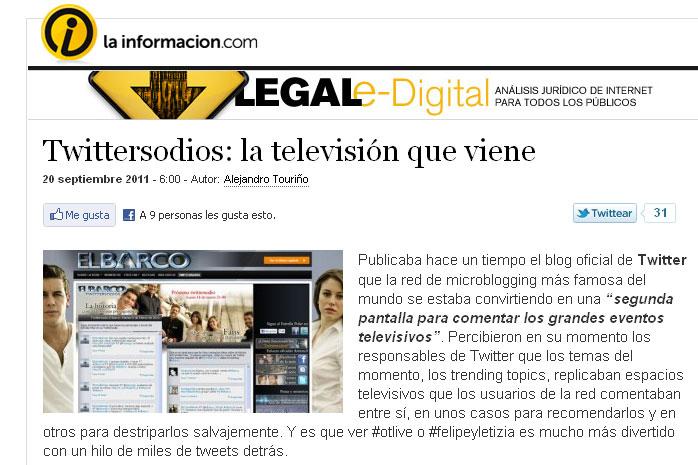 Alejandro Touriño Twittersodios El Barco Play Television