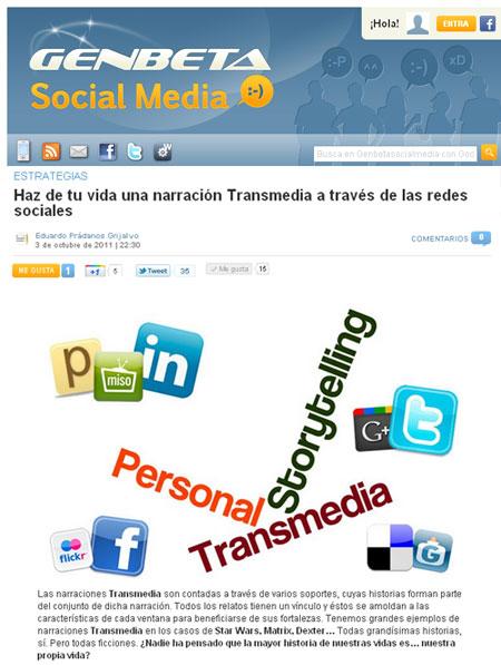 Personal Transmedia Storytelling Narración Personal Transmedia Eduardo Prádanos