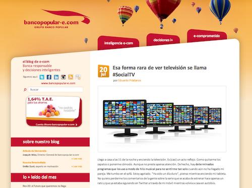 Eduardo Prádanos Televisión social Popular e-com