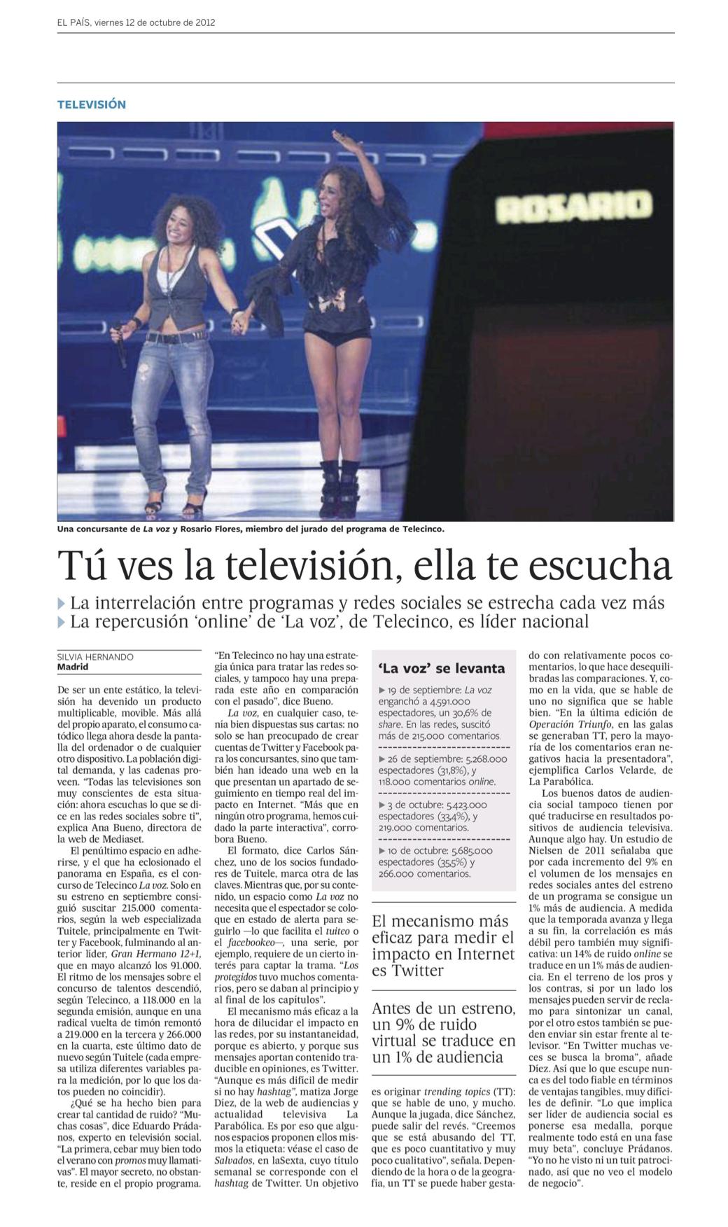 El País Social TV La Voz Telecinco