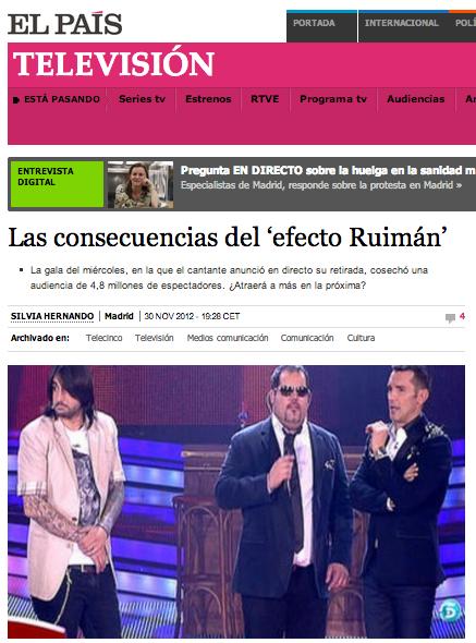 Ruiman Social TV La Voz Television social
